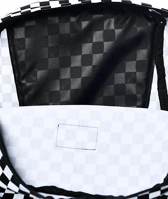 ... Vans Old Skool II mochila a cuadros en blanco y negro 649bed38bba