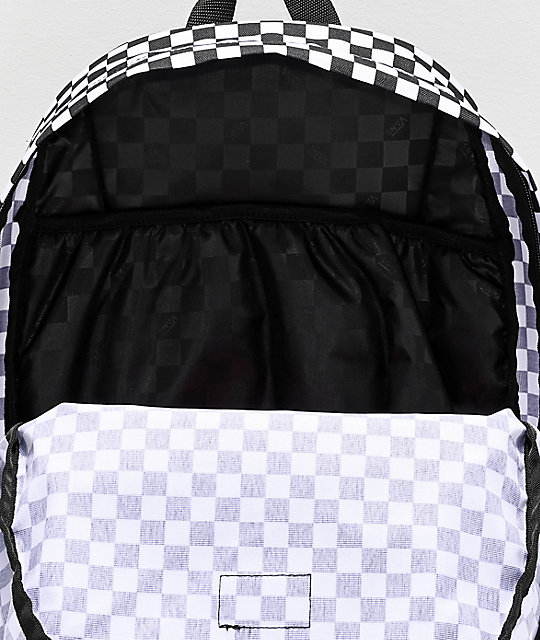 mochila vans negra cuadros