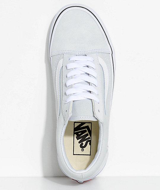 Vans Old Skool Ice Flow Amp True White Skate Shoes Zumiez