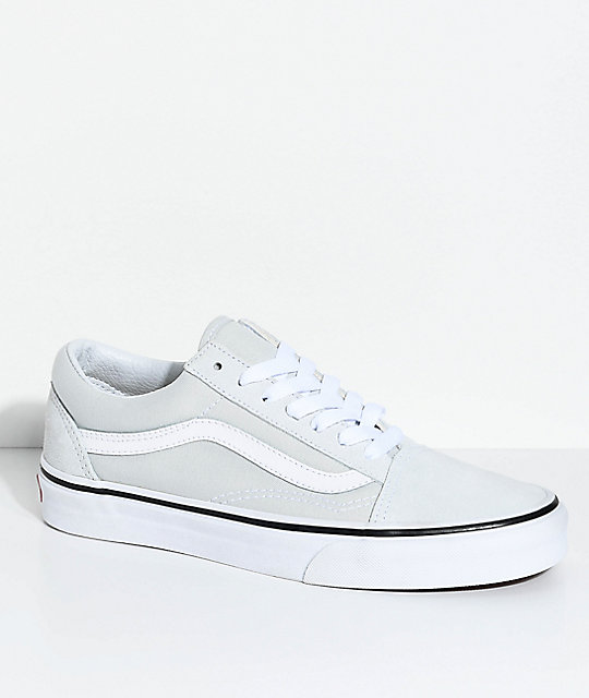 5aba0b26a5d370 Vans Old Skool Ice Flow   True White Skate Shoes
