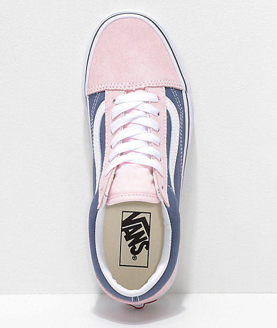 Vans Old Skool Indigo & Chalk Pink Skate Shoes