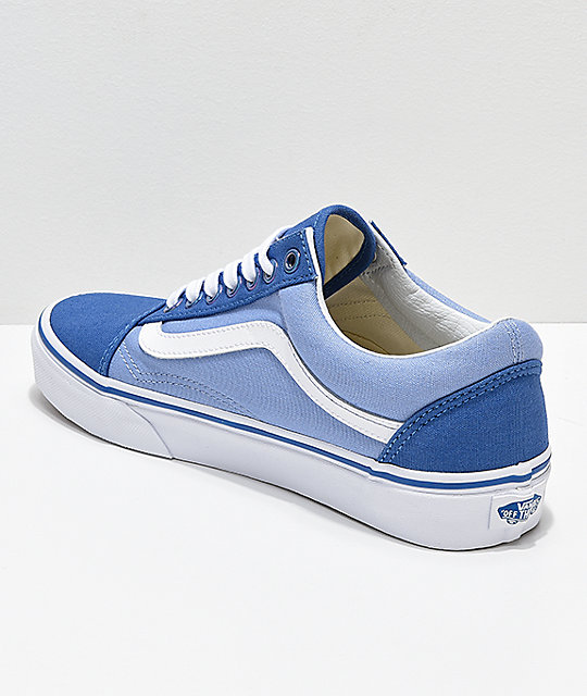 Vans Old Skool Iridescent Eyelet Blue Skate Shoes