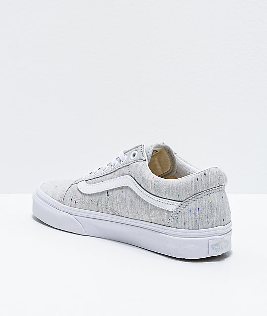 Vans Old Skool Jersey Grey & Speckled Skate Shoes