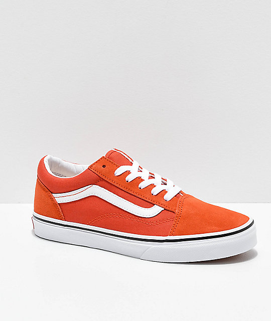 Shoptagr   Vans Old Skool Koi Orange & White Skate Shoes by Vans