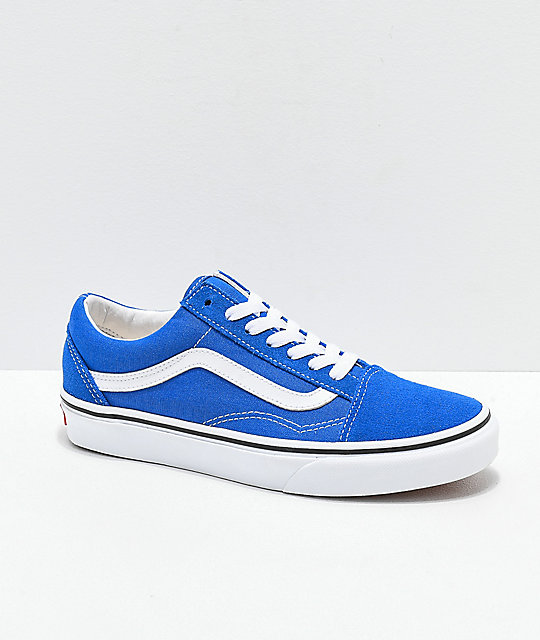 detailed look outstanding features latest style Vans Old Skool Lapis Blue & White Skate Shoes