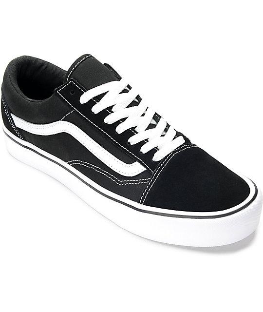 komplettes Angebot an Artikeln großer Diskontverkauf Vielzahl von Designs und Farben Vans Old Skool Lite Black & White Skate Shoes