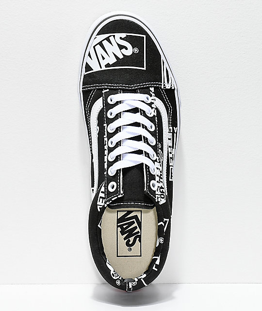 Vans Old Skool Logo Mix Black & White Shoes