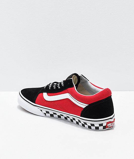 f7df1f7fe89325 ... Vans Old Skool Logo Pop Red Skate Shoes ...
