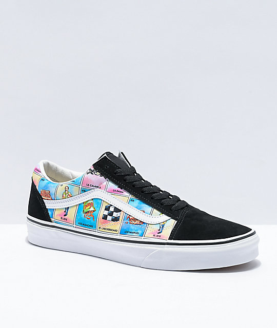Vans Old Skool Los White & Multicolor Skate Shoes