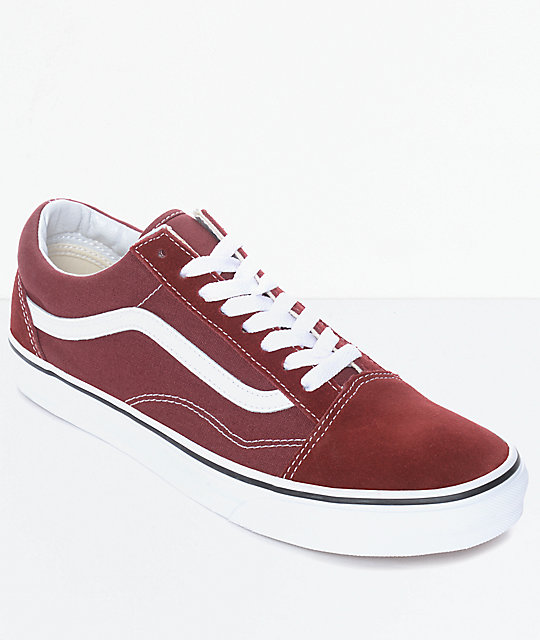 Vans Old Skool Madder Brown & White Skate Shoes ...
