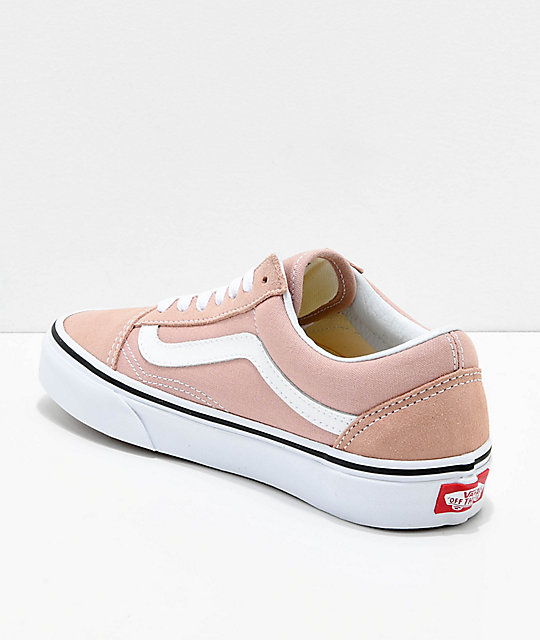 95a62ed987 ... Vans Old Skool Mahogany Rose   True White Skate Shoes ...