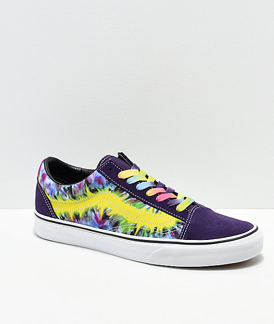 fed6192dfc10 Vans Old Skool Misterio Tie Dye Skate Shoes