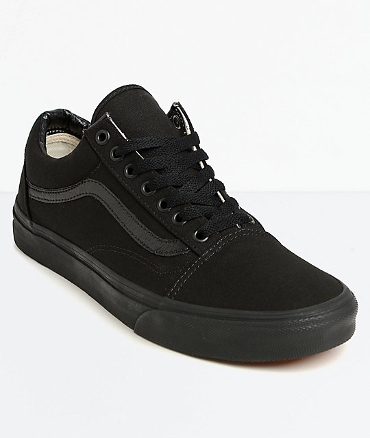Black Skool Vans Old Mono Skate Shoes OXiuPkZT