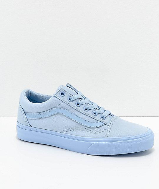 Vans Old Skool Mono Sky Blue Skate Shoes