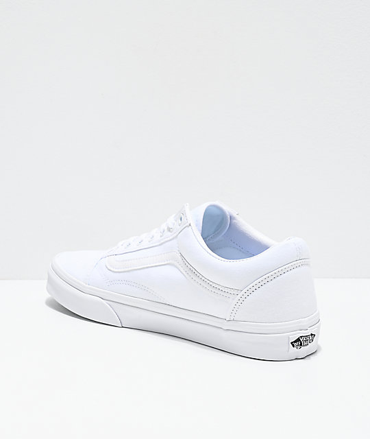 0f7eb7a3f7 Vans Old Skool Mono White Skate Shoes | Zumiez