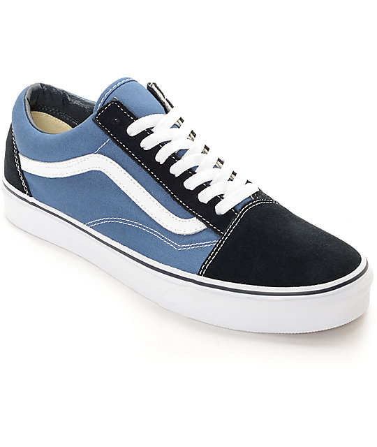 95eb3474f4eb7 Vans Old Skool Navy Skate Shoes