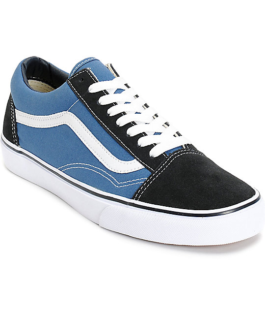 9a806d354950 Vans Old Skool Navy Skate Shoes
