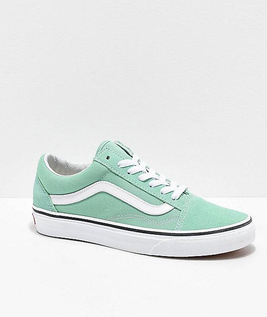 am besten online bester Service ganz nett Vans Old Skool Neptune Green & White Skate Shoes