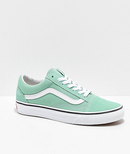 Vans Old Skool Neptune Green & White Skate Shoes