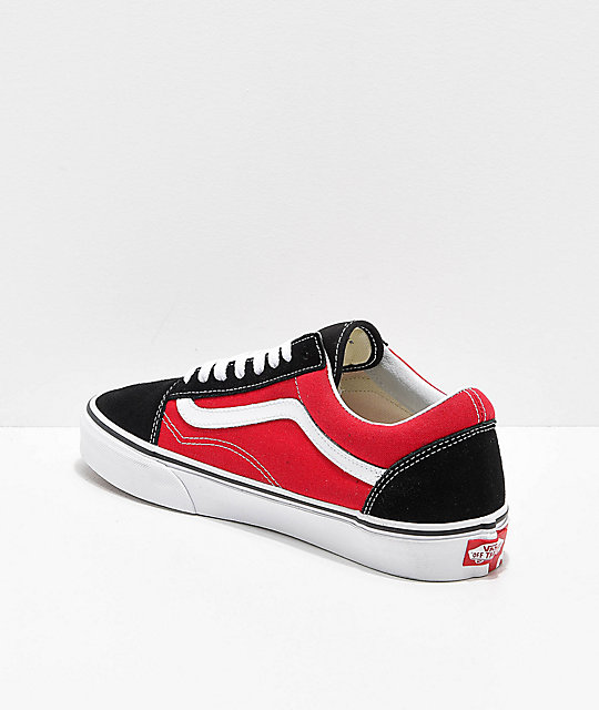 Vans Old Skool OTW Black & Red Skate Shoes