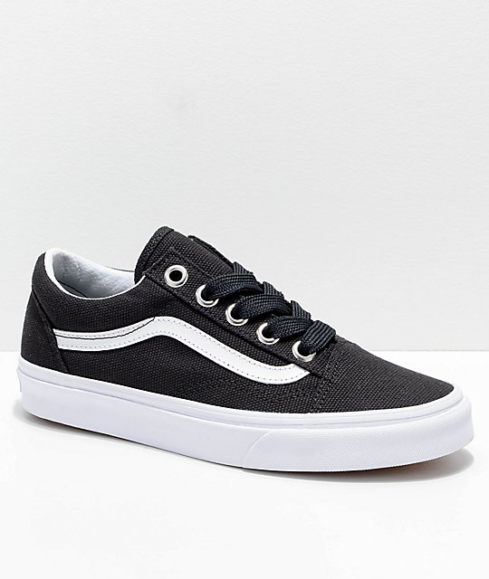 Vans Old Skool Oversized Lace Black   White Shoes  0b440871d