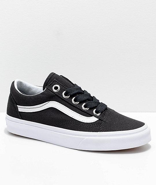 Lace Old amp; White ca Shoes Oversized Zumiez Skool Vans Black qHftaaT