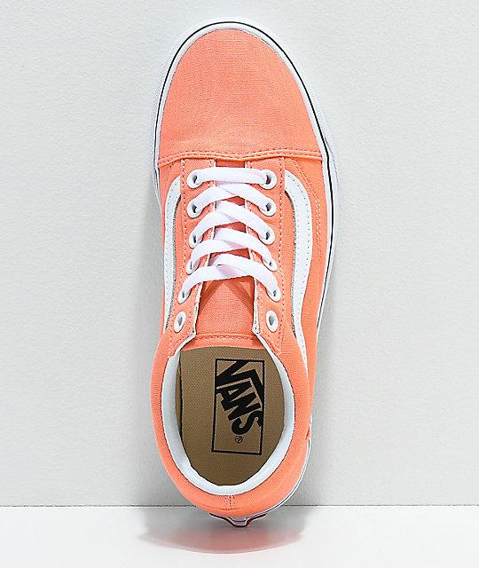 f1b2d0d1bfd804 ... Vans Old Skool Peach Pink   True White Skate Shoes ...