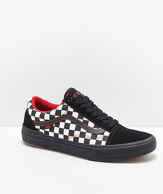 5630c794a91d6 Vans Old Skool Peraza Pro Black Checkerboard Skate Shoes