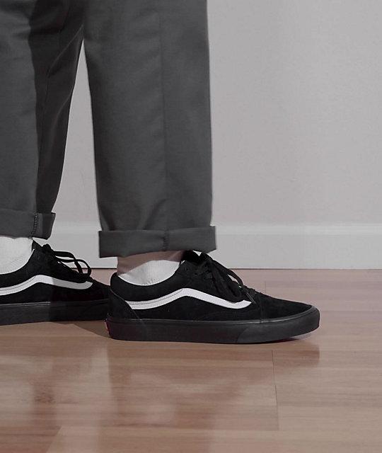 Vans Old Skool Pig Suede Black & White Skate Shoes | Zumiez