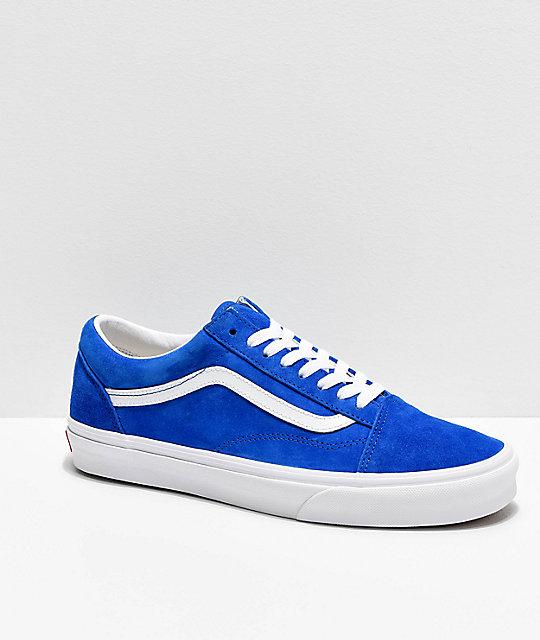 old blue suede vans skate chaussures
