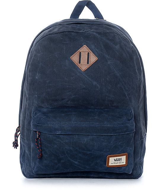 6a41ad214f Vans Old Skool Plus Dress Blue Backpack