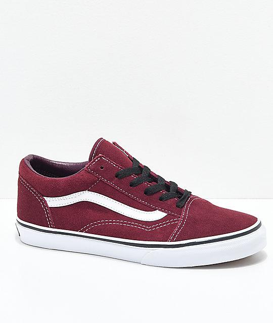 Vans Old Skool Port Royale Red   White Skate Shoes  7402af070b