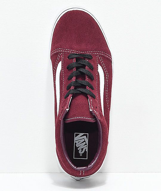Vans Old Skool Port Royale zapatos de skate en rojo y blanco
