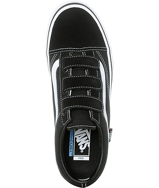 3509dd3fe03 ... Vans Old Skool Prison Pro Black   White Skate Shoes ...