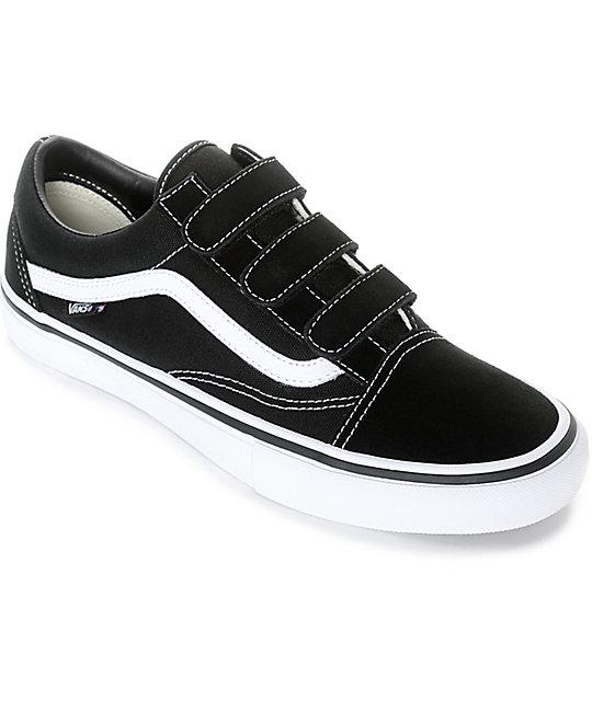 Vans Old Skool Prison Pro Black & White Skate Shoes