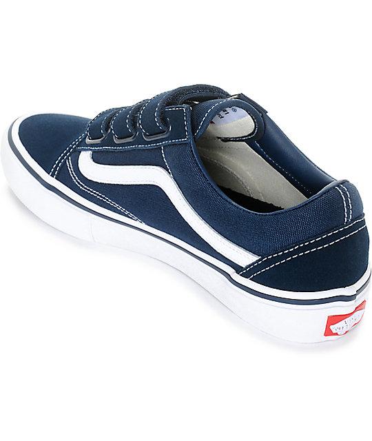 54525e498b Vans Old Skool Prison Pro Navy   White Skate Shoes