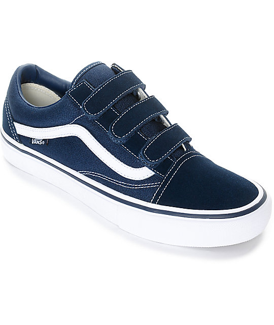dbf5abab2969f6 Vans Old Skool Prison Pro Navy   White Skate Shoes
