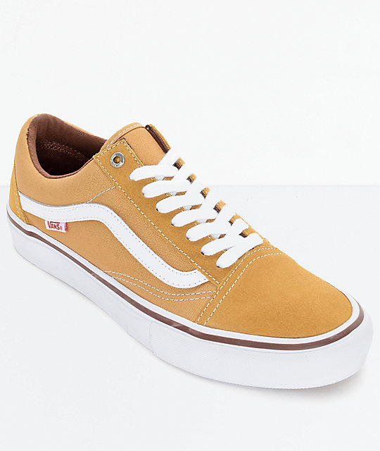 Vans Old Skool Pro Amber   White Shoes  b831d5c64