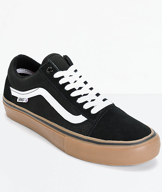 Vans Old Skool Pro Shoes | Vans Mens Skate Shoes BlackWhite