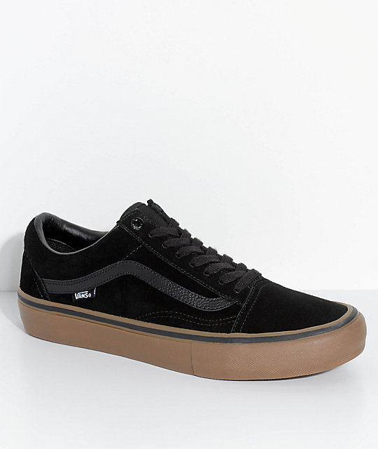 dd48ce50 Vans Old Skool Pro Black & Gum Skate Shoes