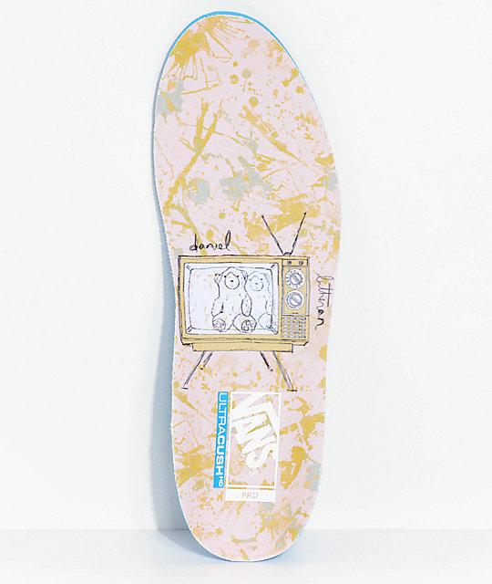 c499ae0c864aa7 ... Vans Old Skool Pro Dan Lu Harbor Grey   Pearl Skate Shoes