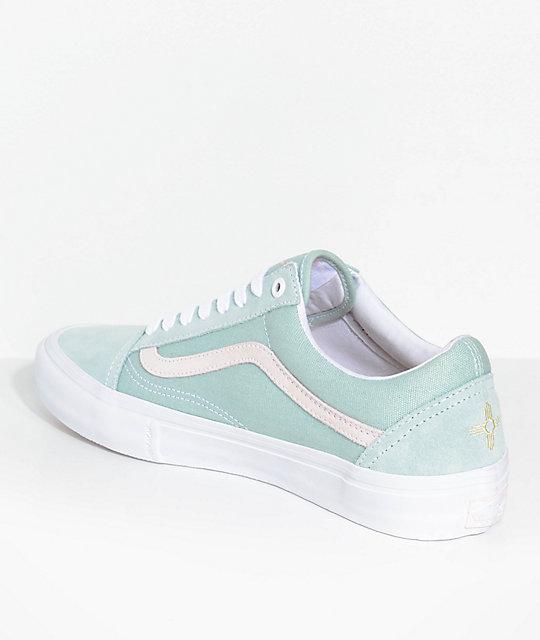 9696b5afffb543 ... Vans Old Skool Pro Dan Lu Harbor Grey   Pearl Skate Shoes ...