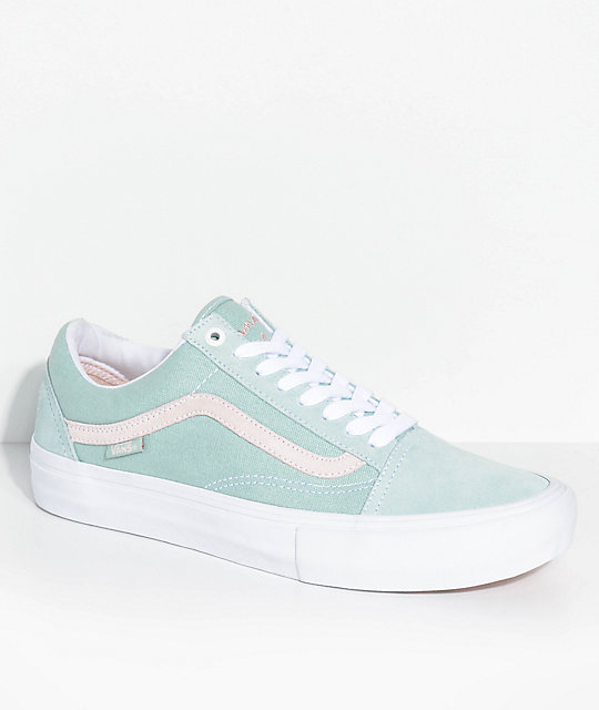 7748523e504 Vans Old Skool Pro Dan Lu Harbor Grey   Pearl Skate Shoes