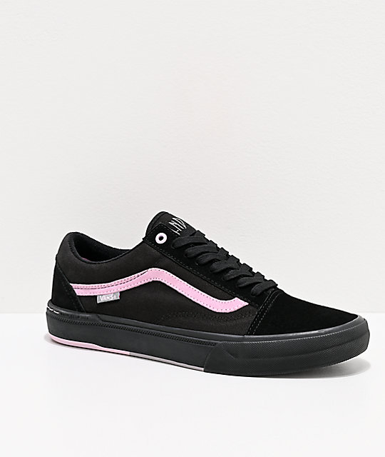 Vans Old Skool Pro Danois Black & Pink Skate Shoes