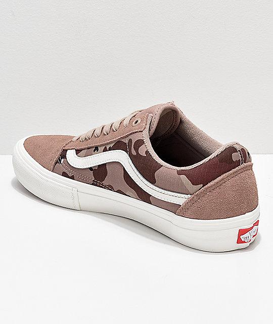 Zumiez Skool Vans Old Desert Pro Skate Camo Shoes 0qfqw58