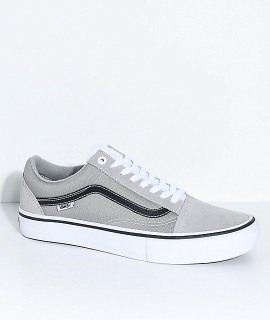 Pro Skate En Skool De Zapatos Vans Old Gris Drizzle Zumiez qYxwExCfWF