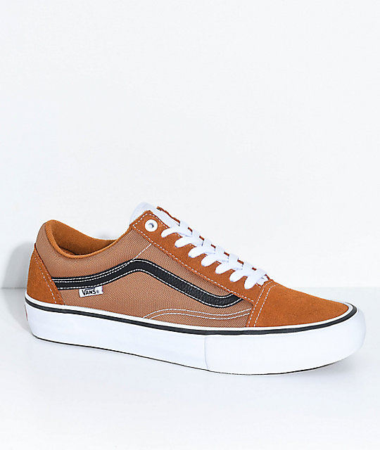 vans tan and white