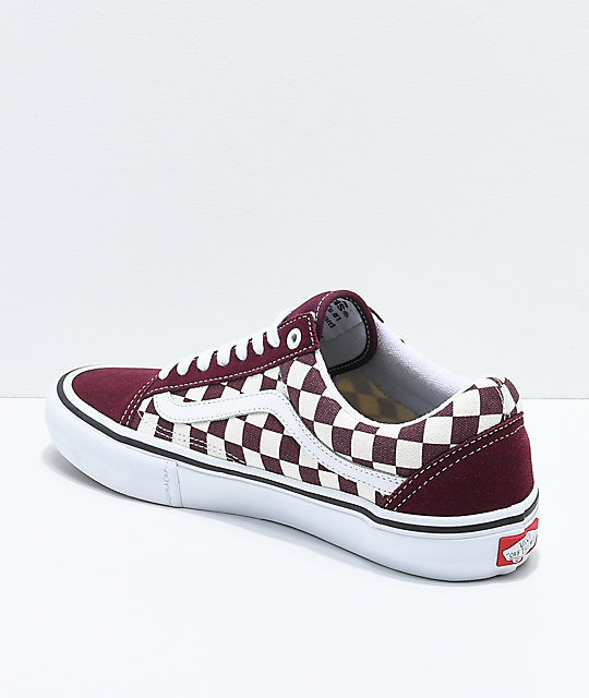 dd020f4cbc6d06 ... Vans Old Skool Pro Port Royal   White Checkered Skate Shoes ...