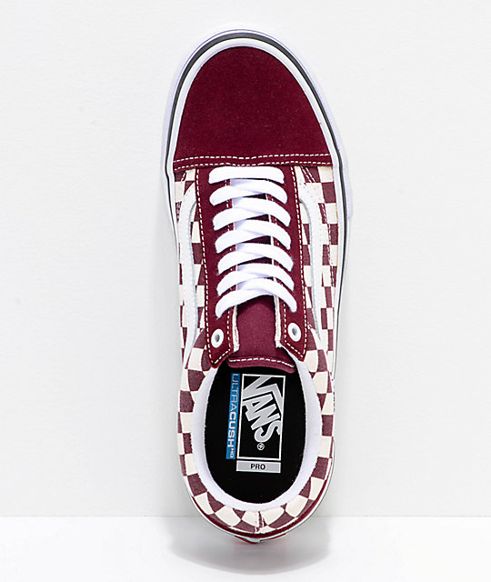 Vans Old Skool Pro Port Royal & White Checkered zapatos de skate