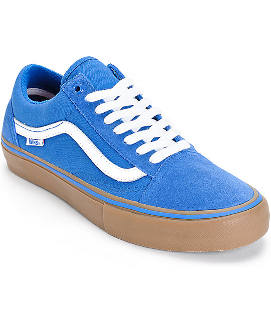 vans azules hombre old school